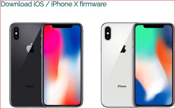 iPhone X firmware update