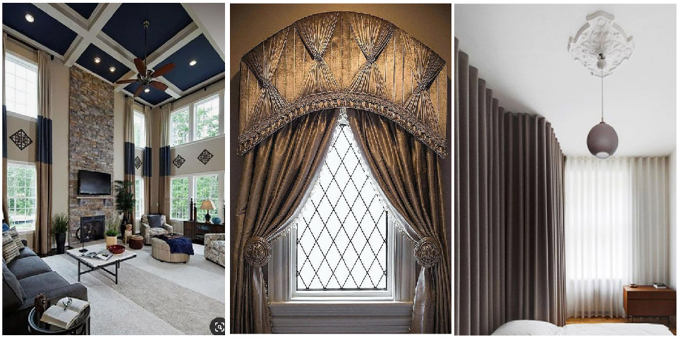 window treatment designs for arched
