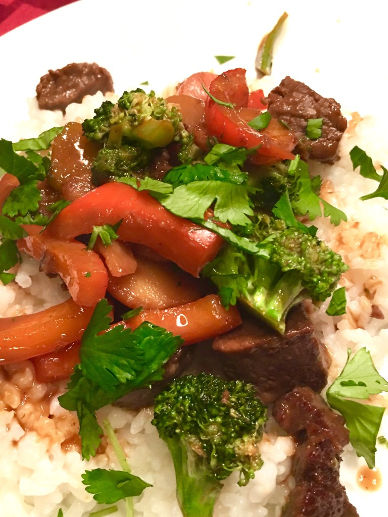 Stir-fry beef with peanut sauce safe for fructose malabsorption