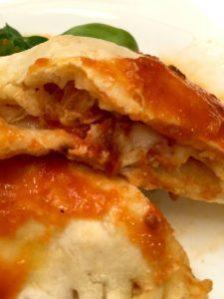 gluten free chicken and cheese calzone