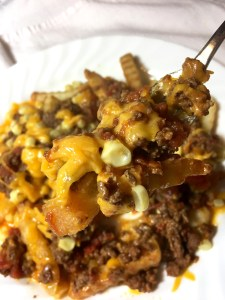 Gluten free loaded layered fries