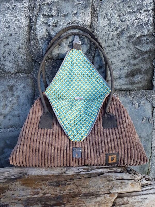 Seashell aus der Taschenspieler 5 von farbenmix. Schnittmuster aussergewöhnliche Tasche