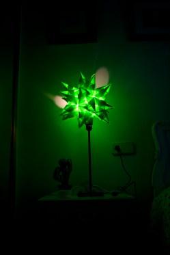 Lámpara de estrella, on