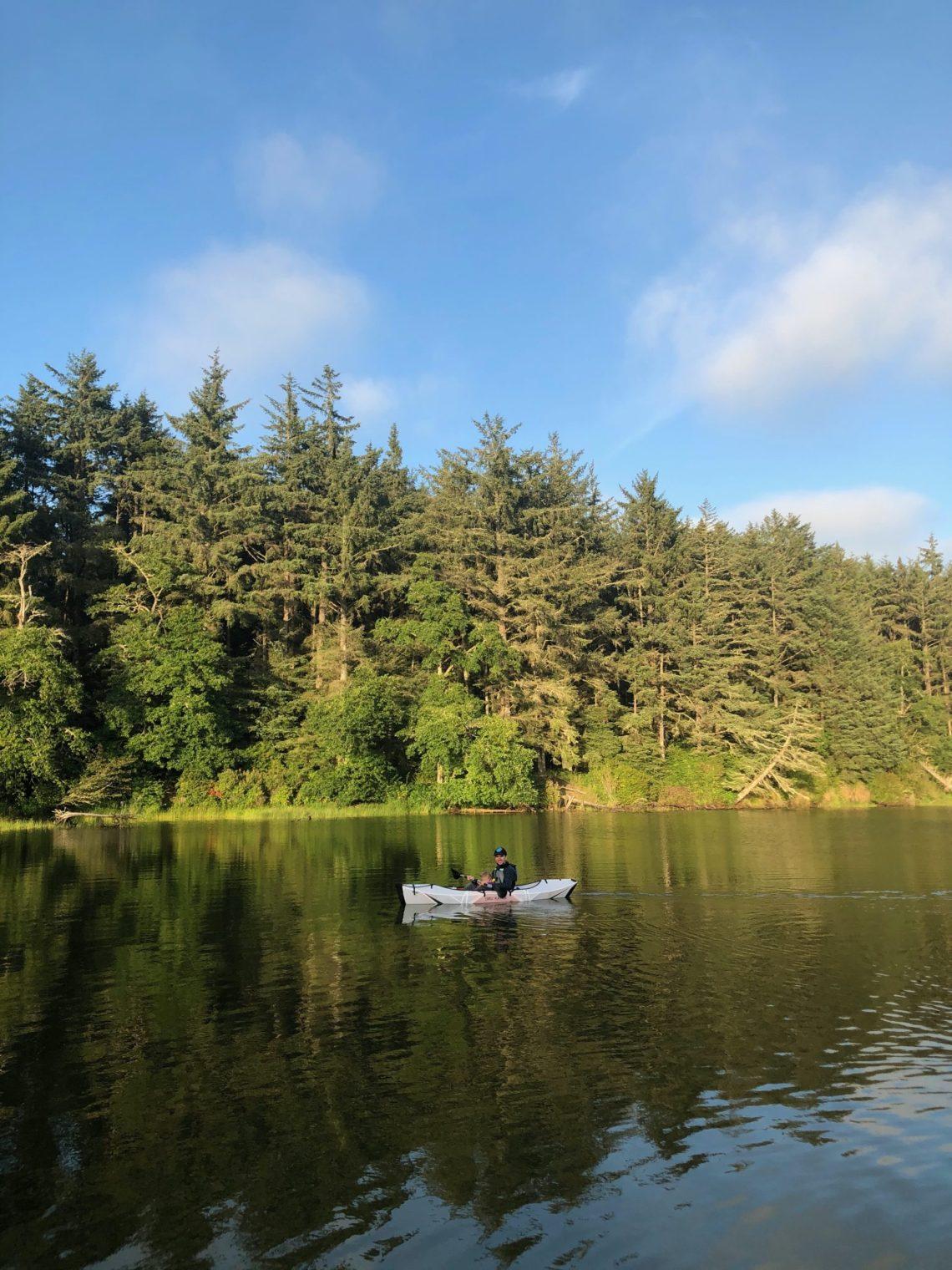 Kayaking at Fort Stevens State Park - Coffenbury Lake with my Oru Kayak