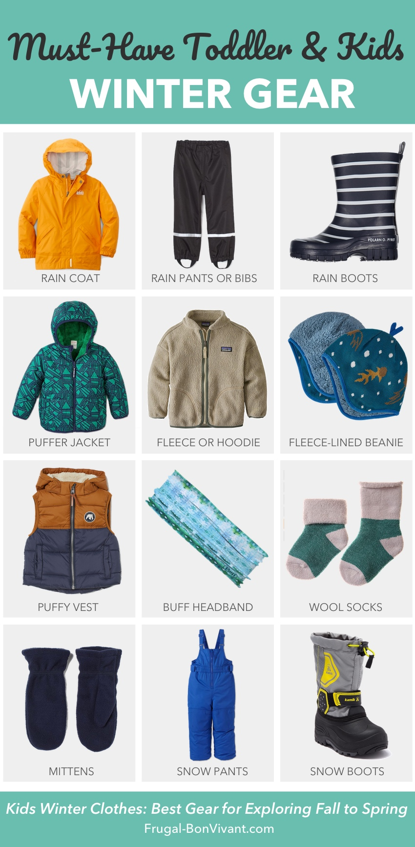 Kids Winter Clothes - Cold Weather Essential for Toddlers and Preschoolers
