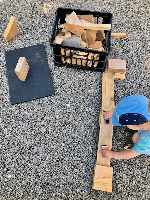 diy blocks for outdoor play