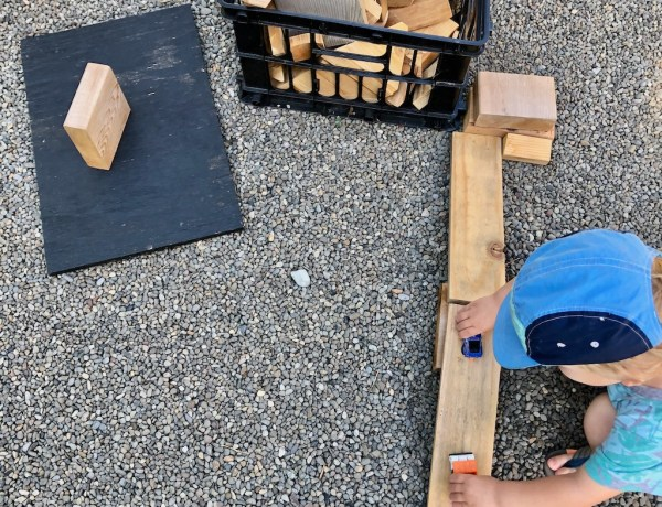 DIY Blocks for Outdoor play
