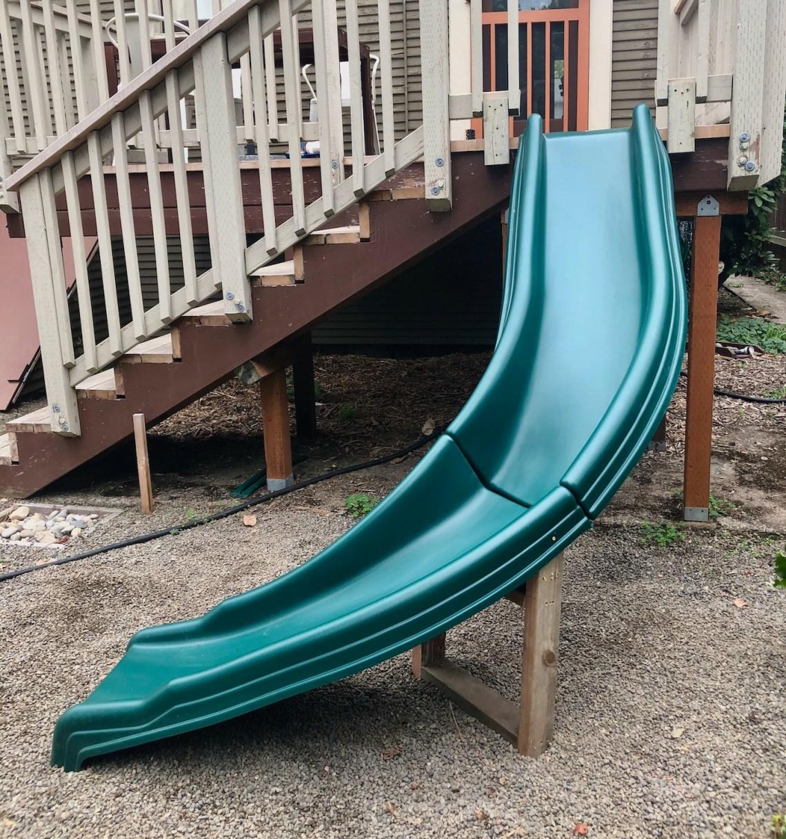 Slide off a deck AFTER