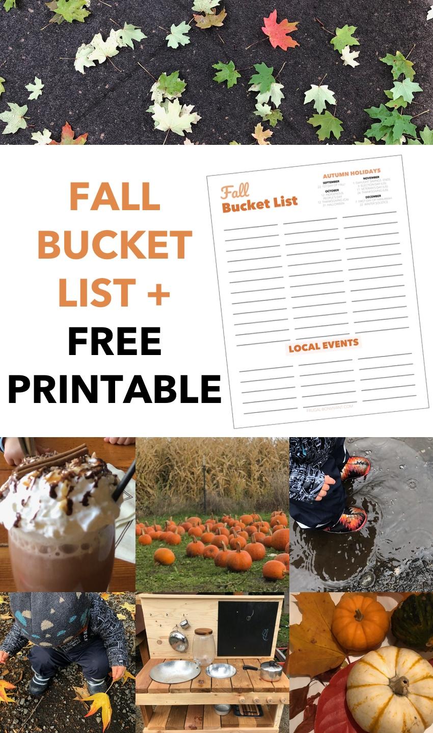 fall bucket list ideas and printable
