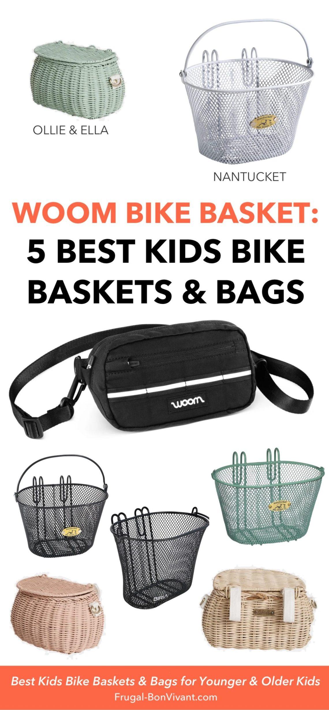 Best Kids Bike basket - Woom bike basket and bags
