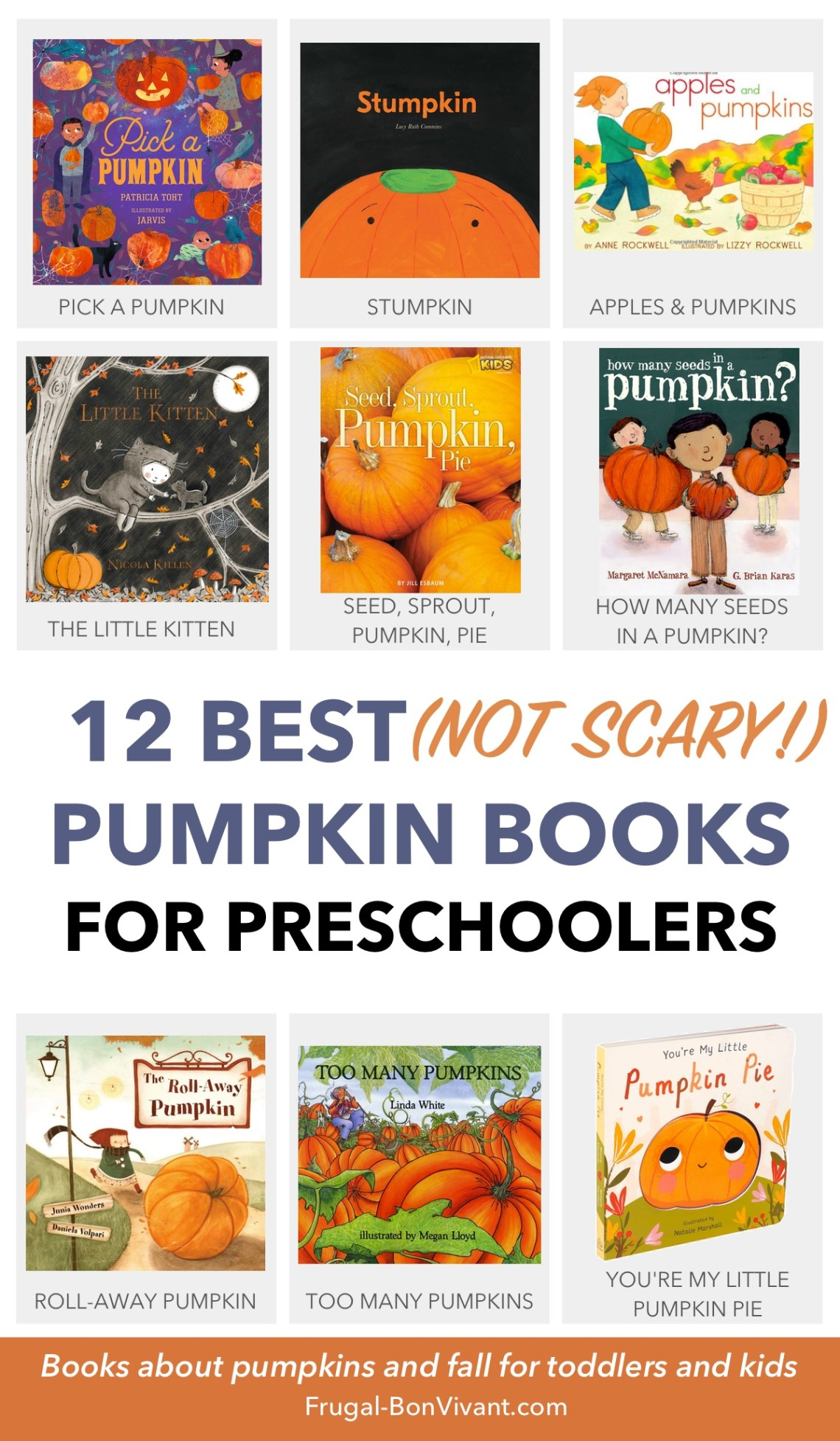Pumpkin books for preschoolers, toddlers, and kids