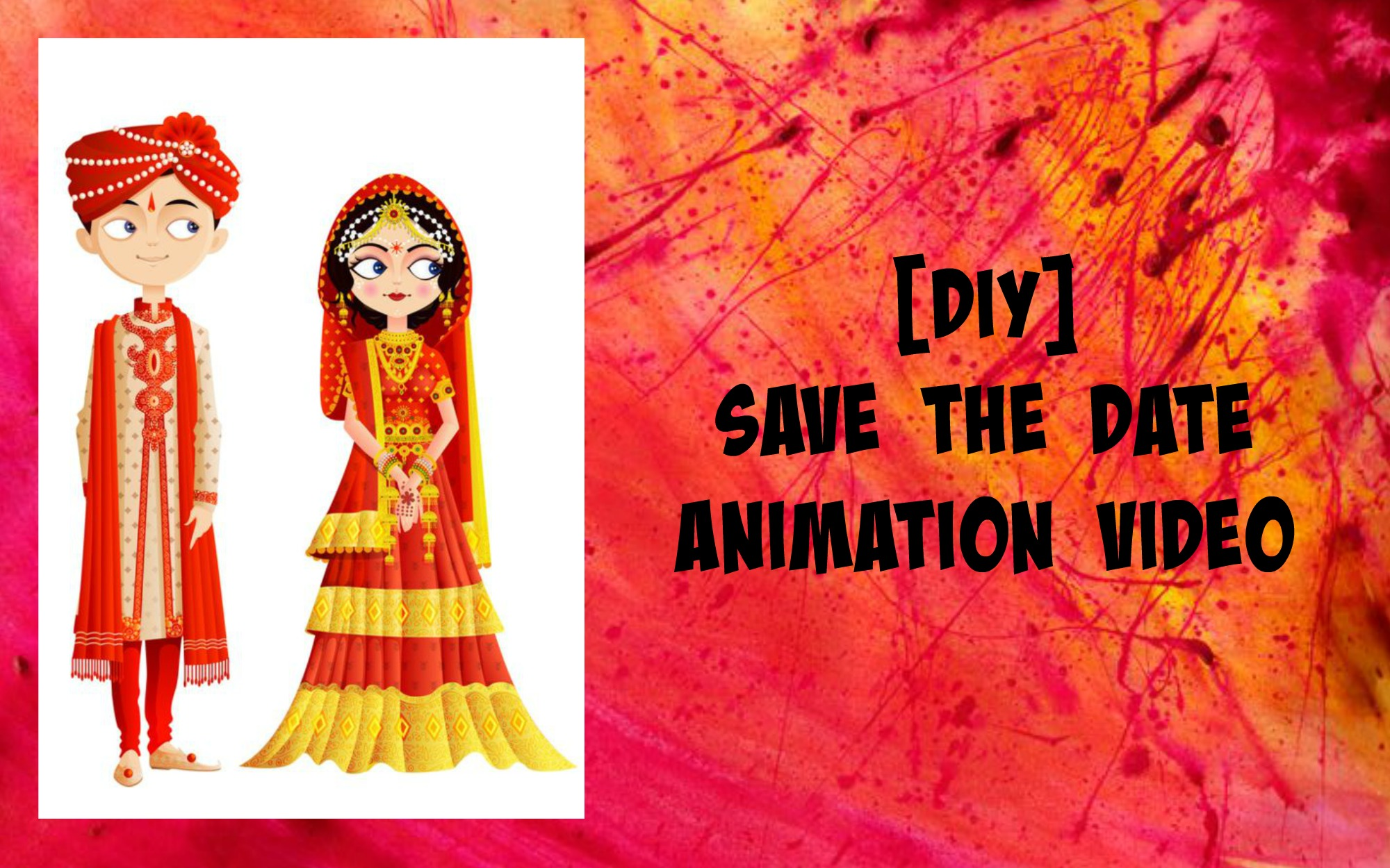 DIY save the date animation video