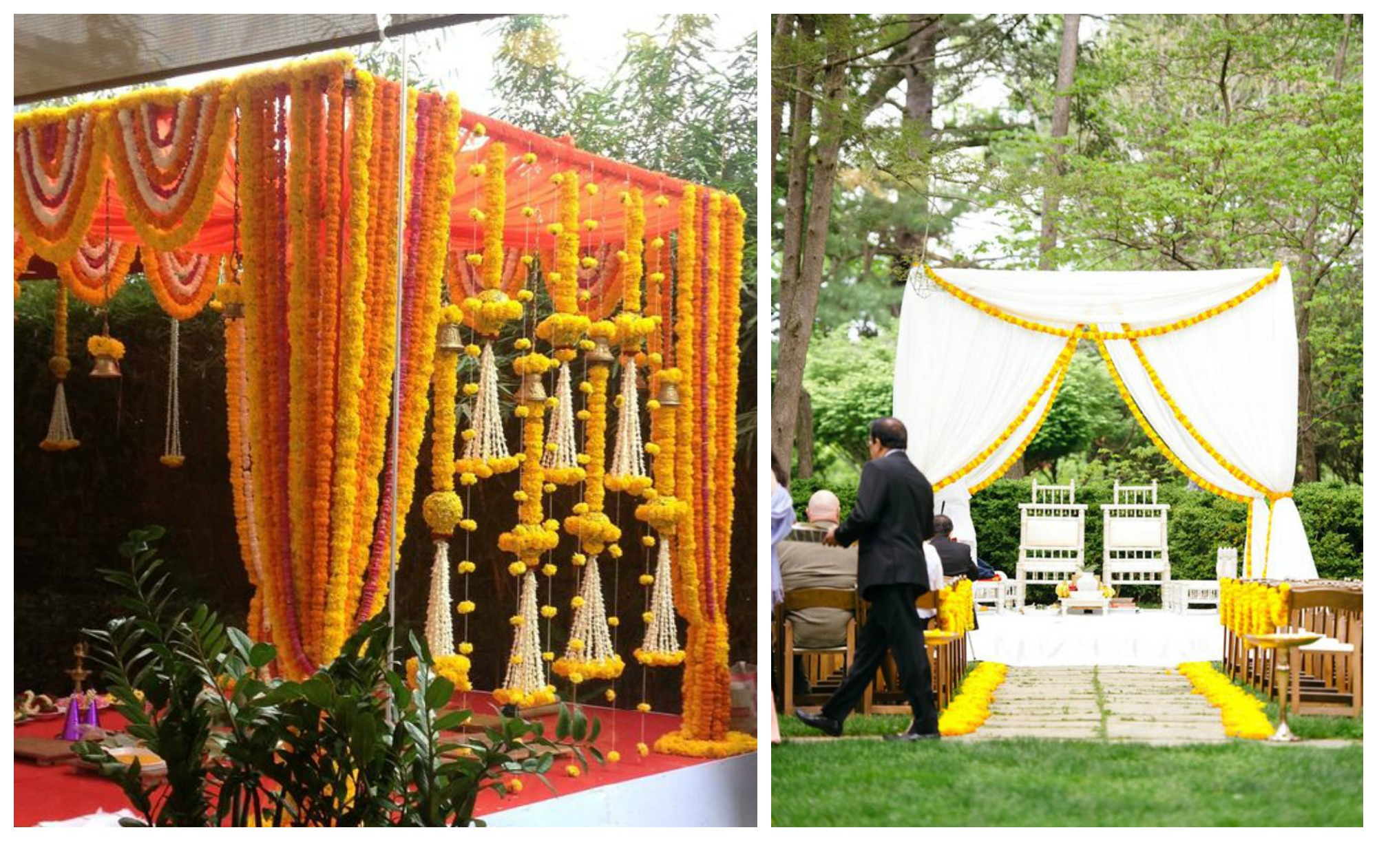 Marigold decor wedding