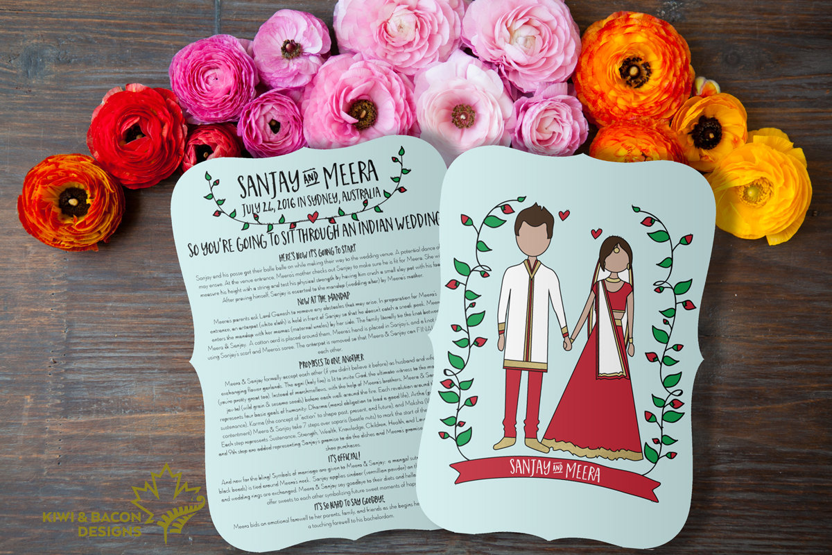 Indian Wedding Program Invitation Card