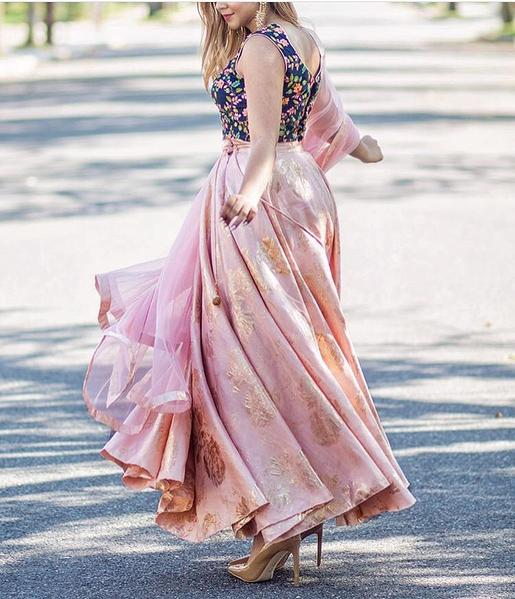 Glow Garden Lehenga Peach Project