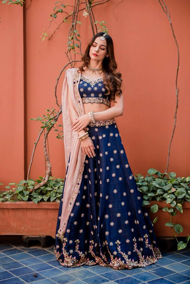 Royal Blue Bridal Lehenga