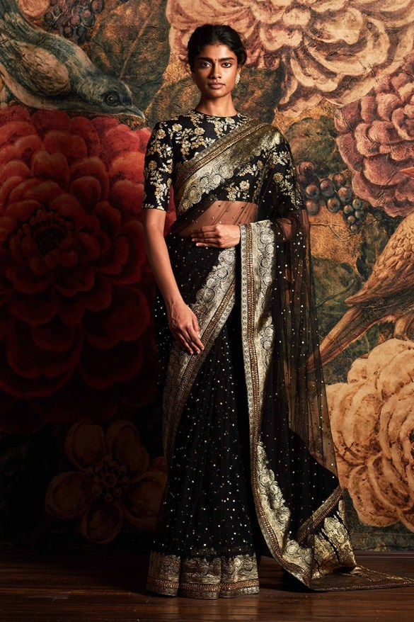 Black Brocade Sabyasachi Saree