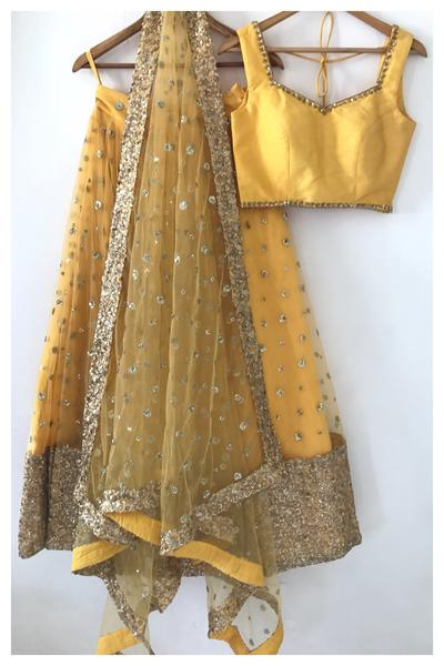 Yellow Gypsy Lehenga