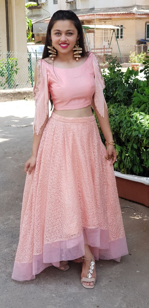 Baby Pink Lehenga Embellished Stories