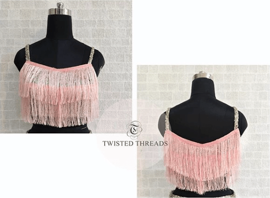 Pink Ombre Lehenga Twisted Threads