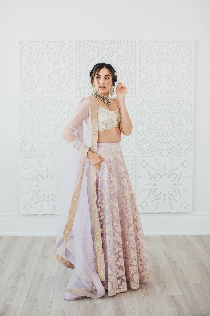 Lilac Poppy Lane Lehenga Skirt
