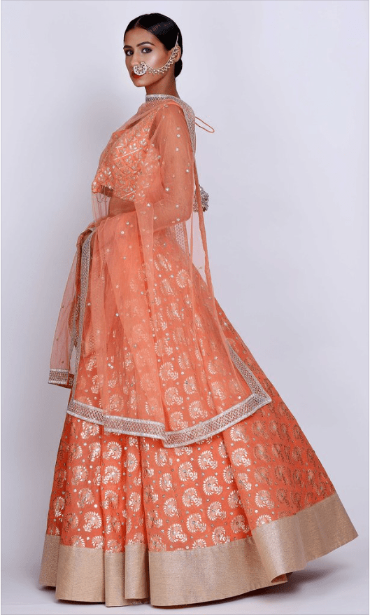 Rust Orange Lehenga