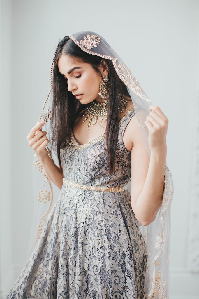 Grey Poppy Lane Lace Gown