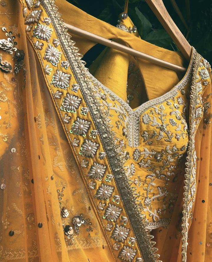 Mustard Yellow Wedding Lehenga