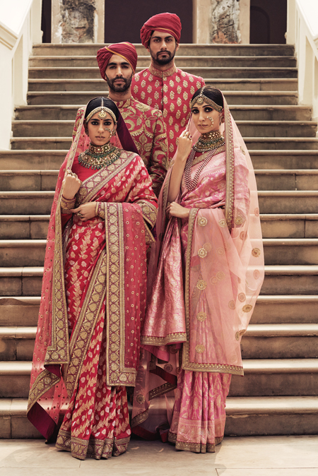 Sabyasachi Red Banarasi Saree