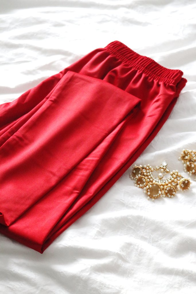 Ruby Gold Velvet Kurta