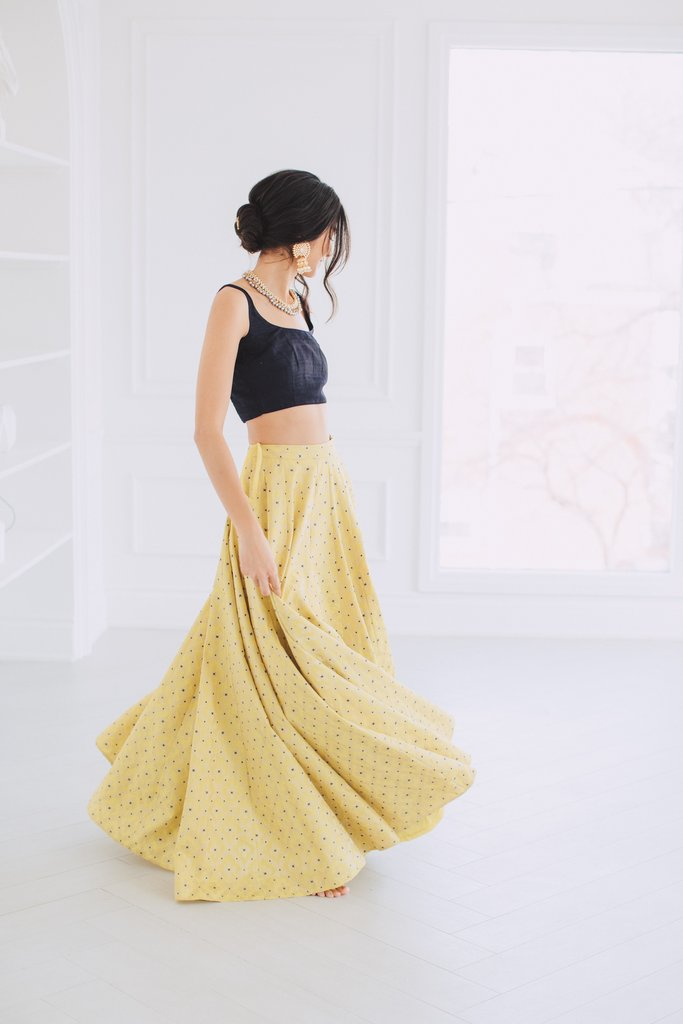 Sunshine Yellow Lehenga Skirt
