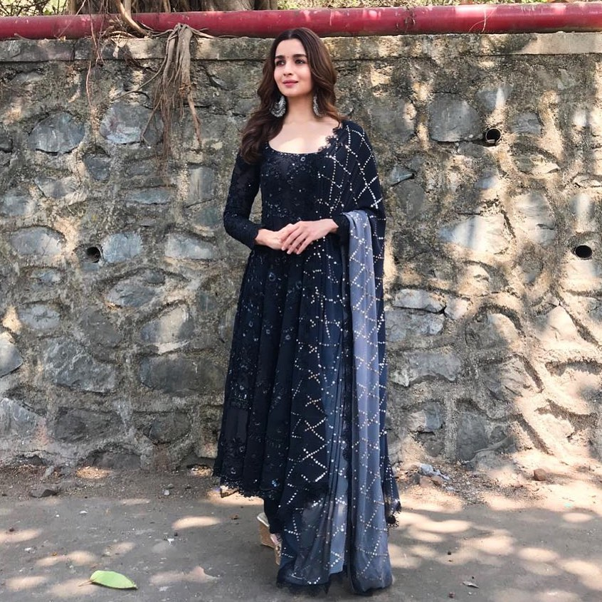 Alia Bhatt in Black Anarkali