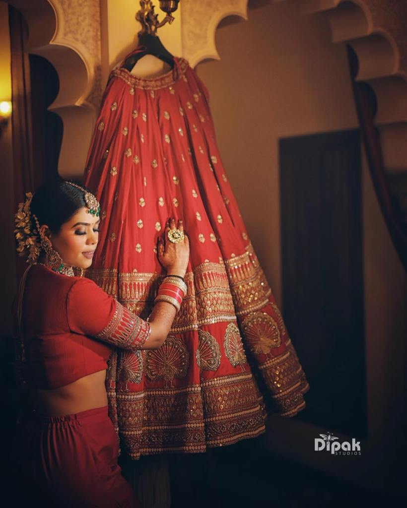Deepika Padukone Red Wedding Lehenga