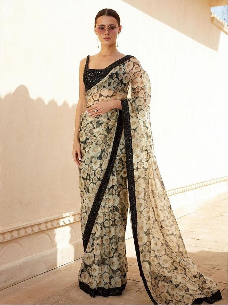 Sabyasachi Black Summer Saree
