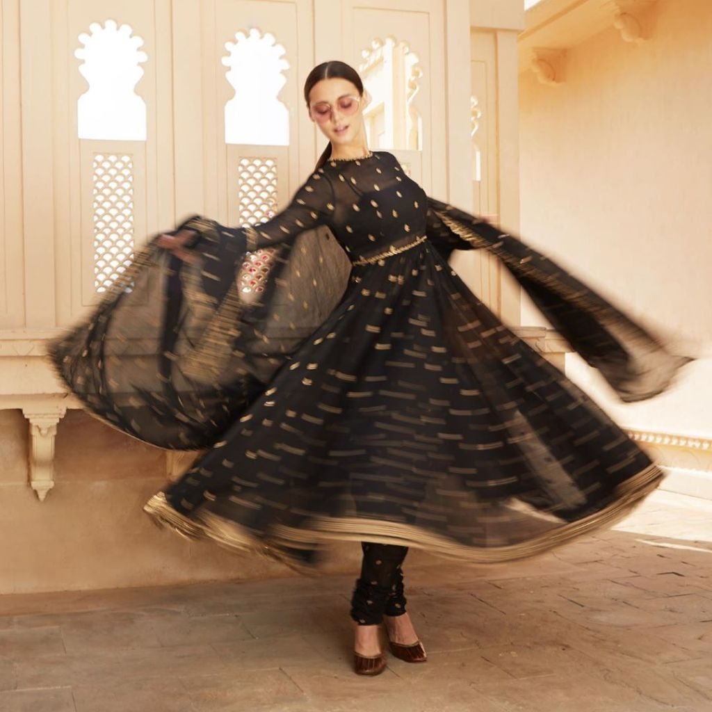Sabyasachi Black Summer Anarkali