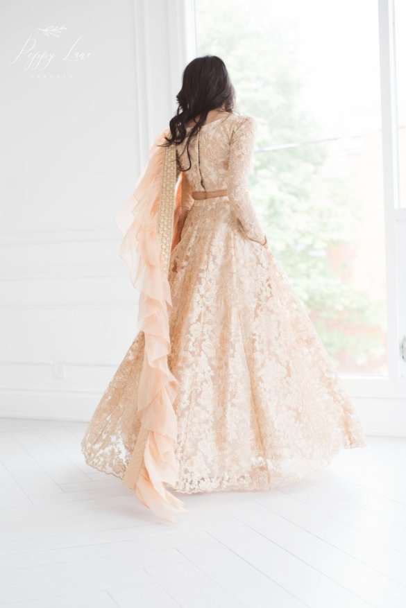 Luxurious Rose Gold Lehenga