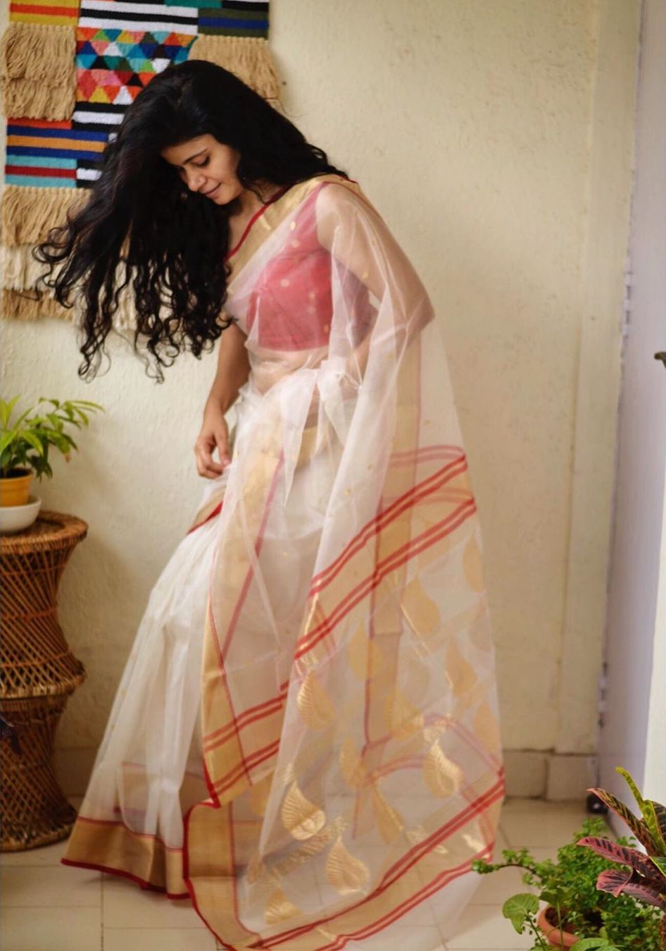 Chakori Ethnic Chanderi Saree
