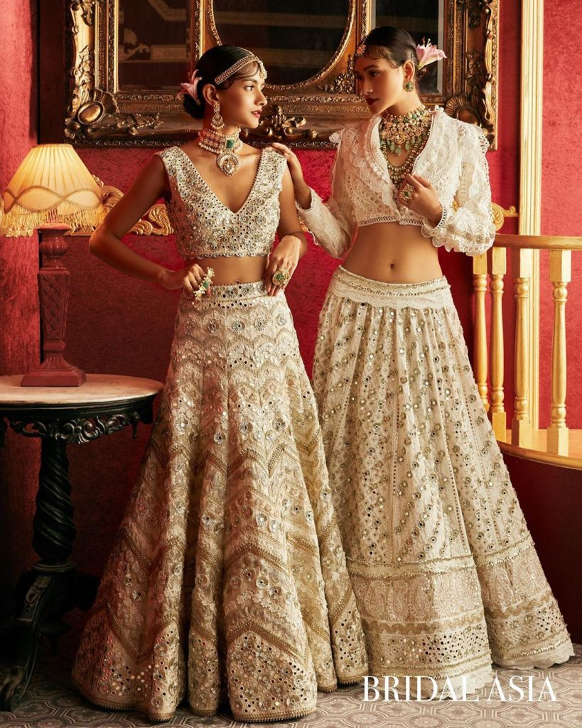 Latest Mirror Work Lehengas