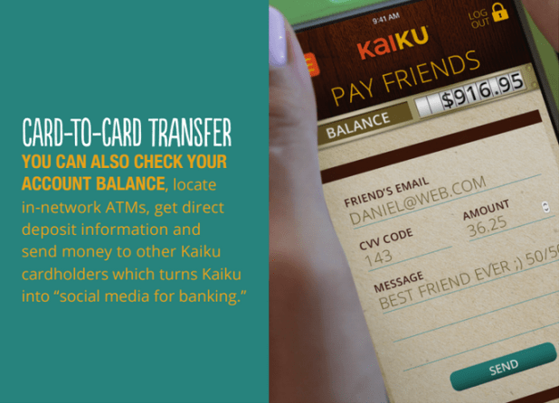 introducing the kaiku card a low fee prepaid debit frugal - Kaiku Visa Prepaid Card