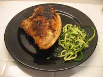 With grilled chicken