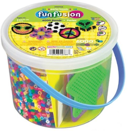 Amazon: Kids crafts – 42% off! Perler Iron Beads 6,000 Bucket – Only $8 for HOURS of fun!