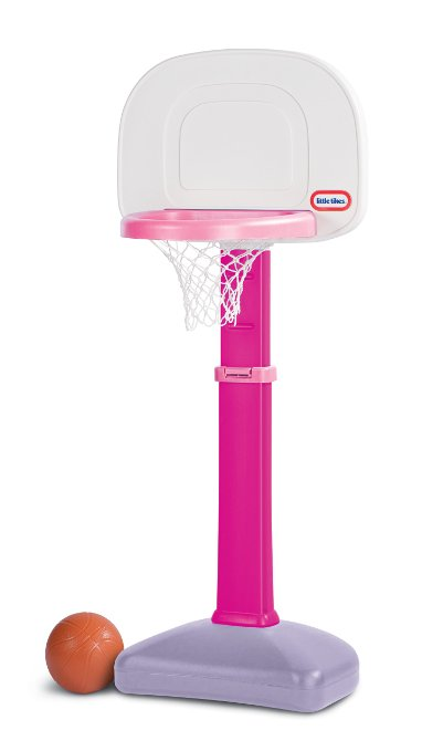 Amazon: Little Tikes Basketball Hoop – grows to 3 heights only $23! Pink