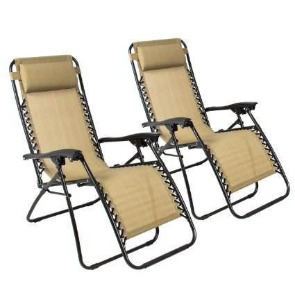 LOVE THESE!! Best ChoiceProducts Zero Gravity Chairs (Set of 2) only $79.76 !!