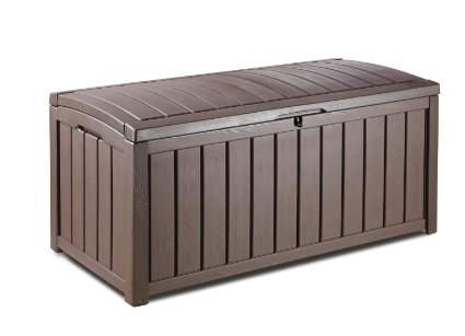 Keter Glenwood Plastic Deck Storage Container Box Outdoor Patio Furniture 101 gallon, Brown ONLY: $80.90 (reg. $109.99)