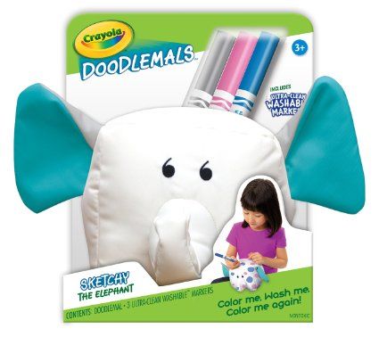 Highly Rated Crayola Doodlemals Elephant and Lion Set with UltraClean Markers, Set of 2 Only $9.93