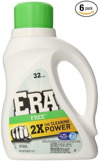 STOCK UP!!! 6-Pack of Era 2X Ultra Free Liquid Detergent – only $2.98 per bottle!!