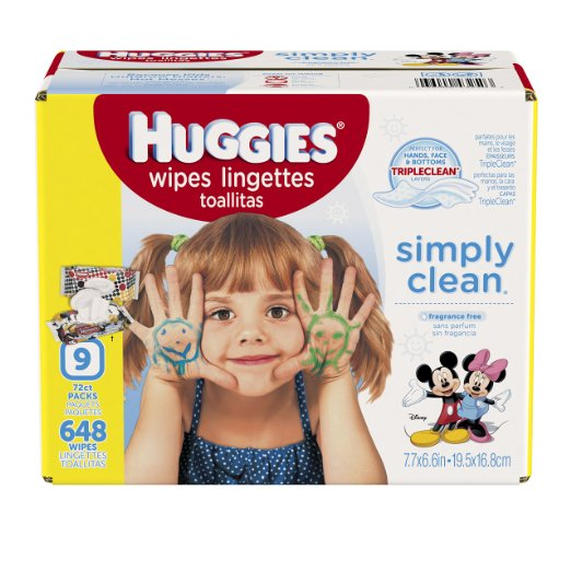 Amazon: $10 for HUGGIES 648 Count Simply Clean Wipes w/coupon!