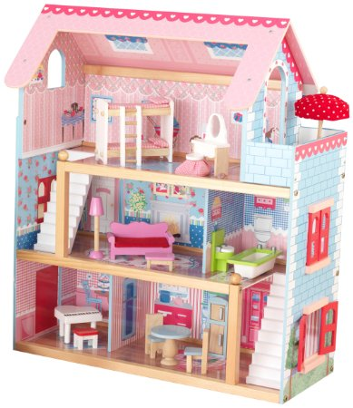 LOWEST Price!! KidKraft Chelsea Doll Cottage with Furniture  ONLY $53.99 + FREE shipping!