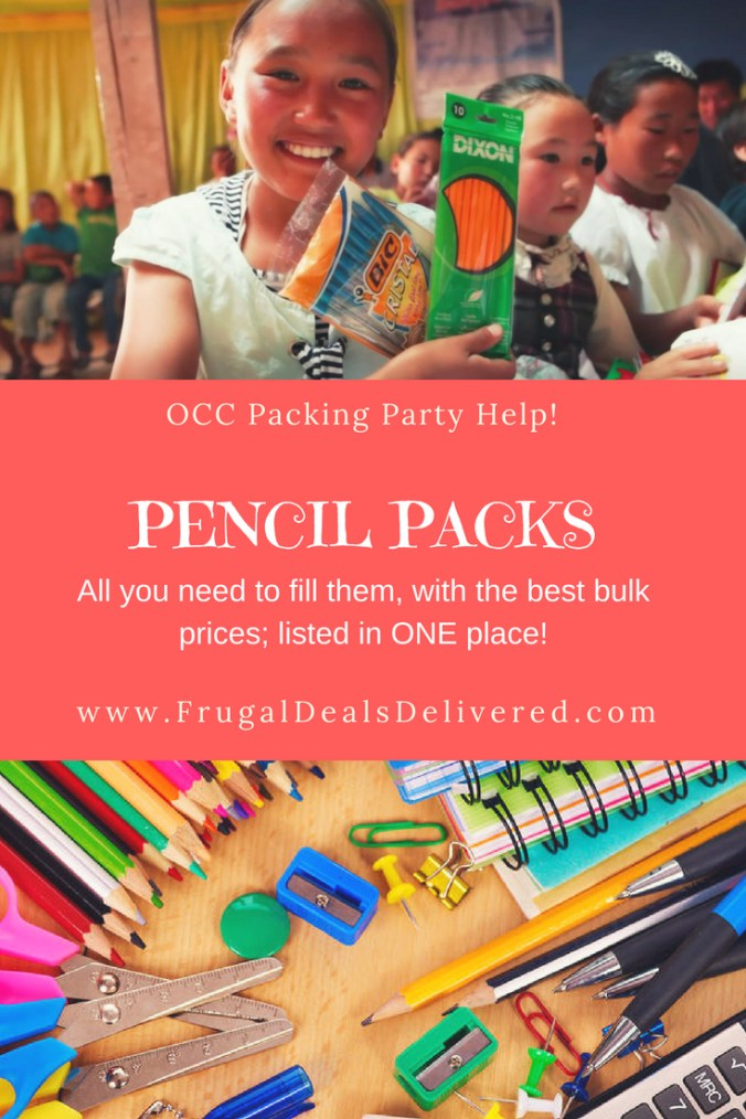 Christmas Child.Pencil Packs All You Need To Bulk Order Listed In One