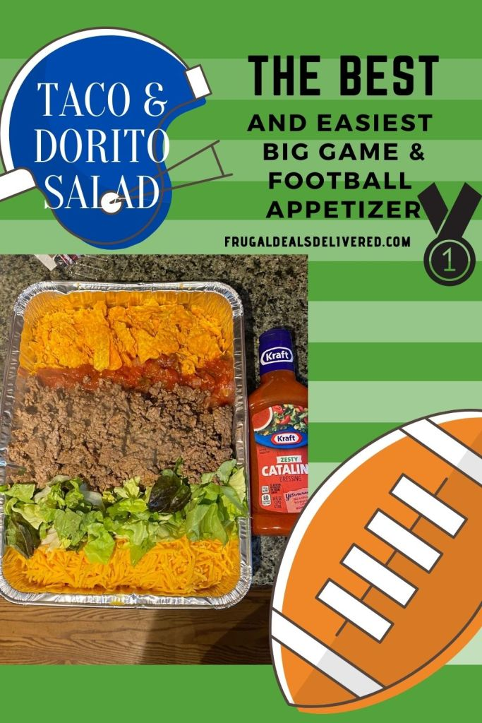 A Perfect Taco Dorito Salad Appetizer for the Football Game, Cinco De Mayo, Taco Tuesday, Summer BBQ Party & Birthday's!! SO EASY less than 7 min!